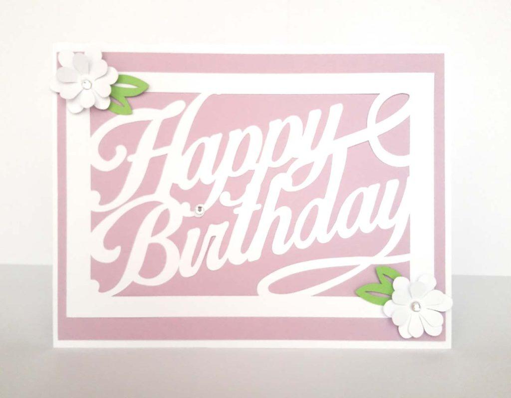 biglietti auguri compleanno personalizzati rosa