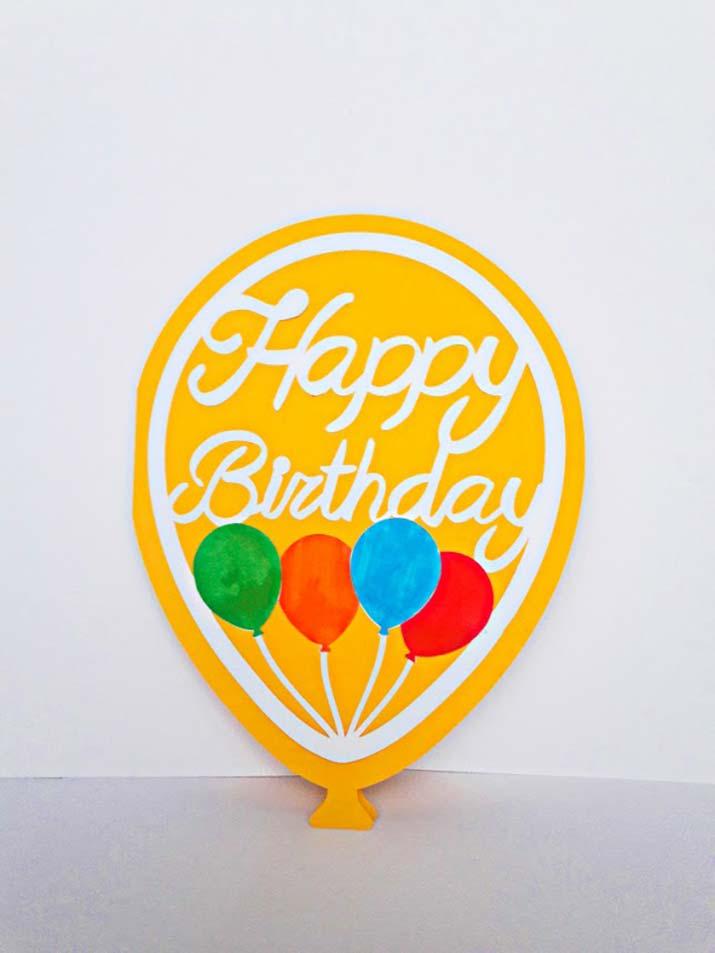 biglietto auguri compleanno personalizzato palloncini