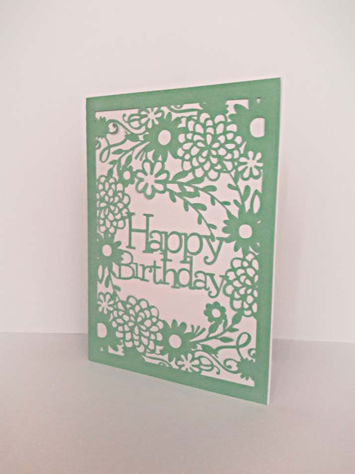 biglietto auguri compleanno personalizzato verde