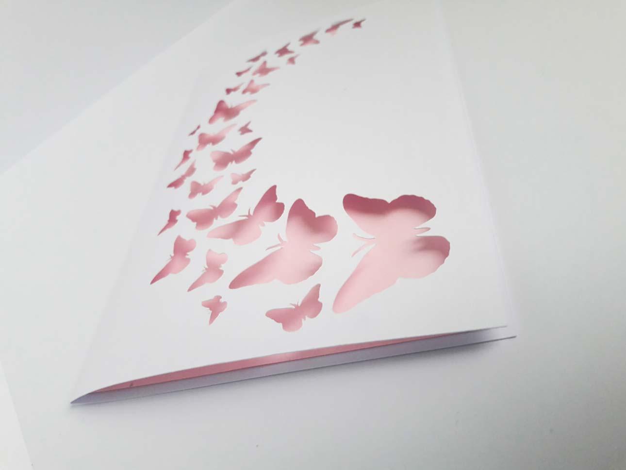 inviti per compleanno bambina farfalle rosa