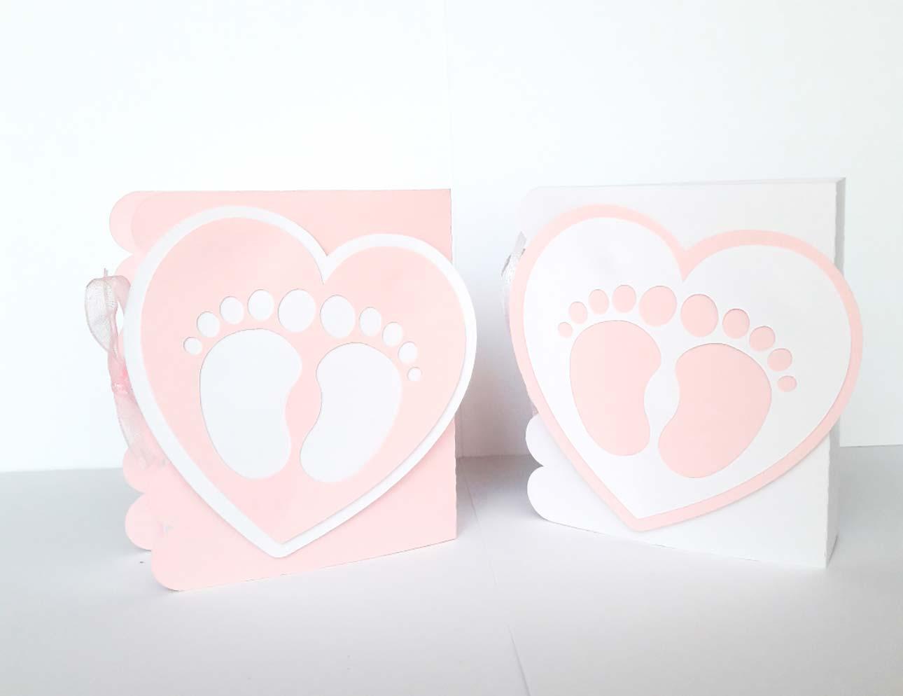 scatoline portaconfetti battesimo piedini