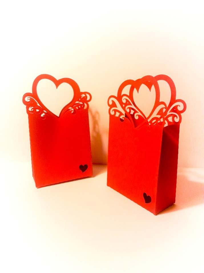 scatoline portaconfetti originali cuore rosso