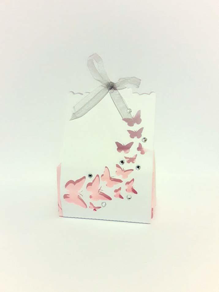 scatoline portaconfetti originali farfalle