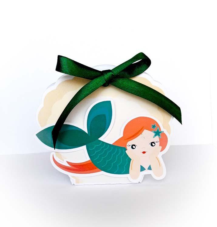 scatoline portaconfetti originali compleanno sirena