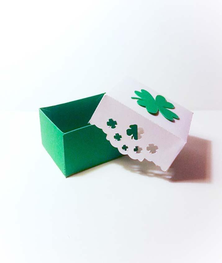 scatoline portaconfetti originali quadrifoglio