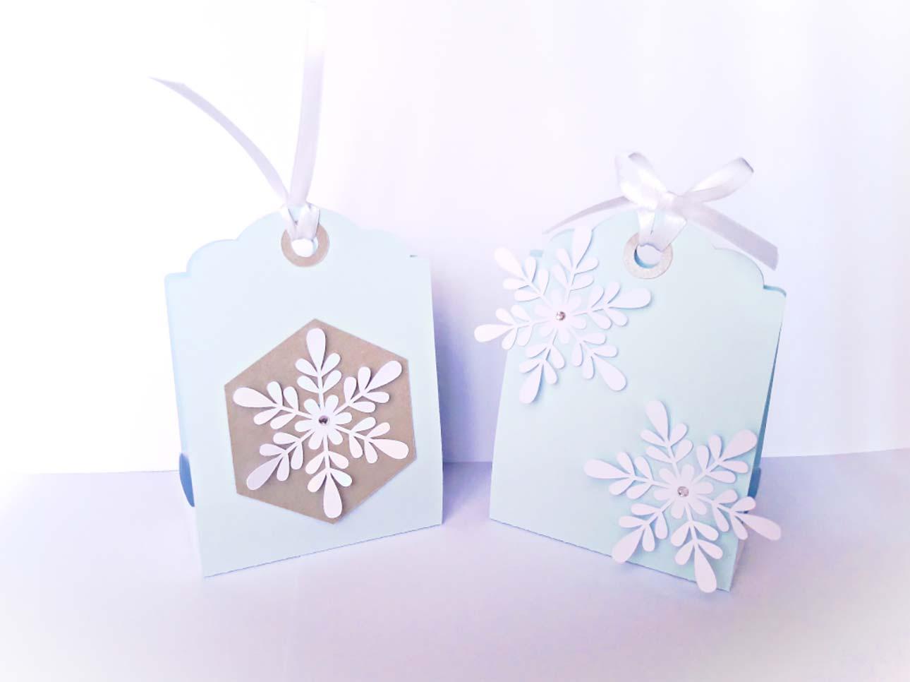 bomboniere prima comunione fatte a mano scatolina fiocco neve