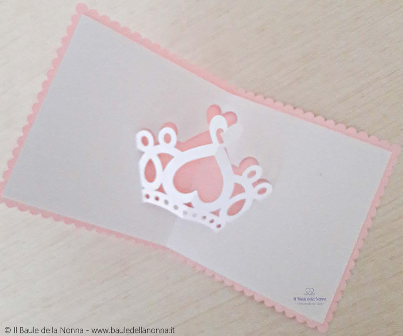 biglietti nascita fatti a mano principessa