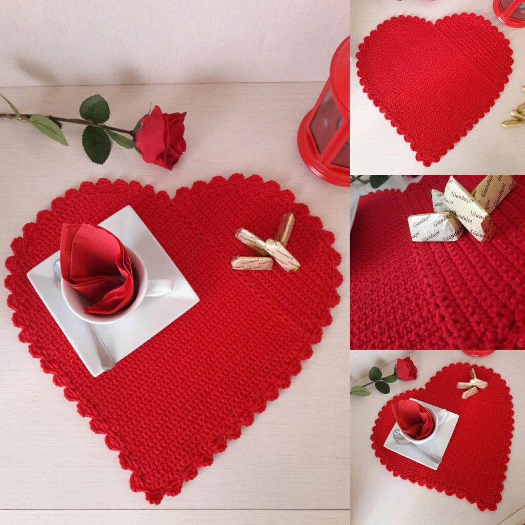 Tovaglietta americana cuore san valentino
